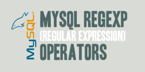 MySQL REGEXP (Regular Expression) Operators